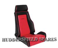 Cobra recliner red and black signature seat