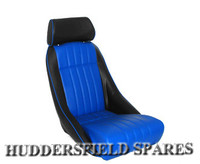 Cobra classic blue and black signature seat