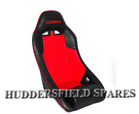 Cobra clubman red and black signature seat