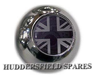 black and silver union jack ball gear knob