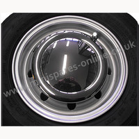 "Chrome hub cap for 10"" wheels"