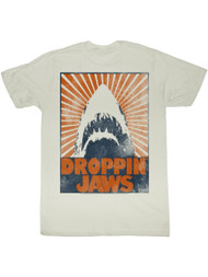 Jaws 1970's Shark Thriller Movie Vintage Style Droppin' Poster Adult T-Shirt