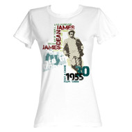 James Dean 1950's American Heartthrob Icon Leaning Dean Quotes Juniors T-Shirt