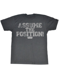 Animal House 1970's College Frat Movie Assume The Position Adult T-Shirt