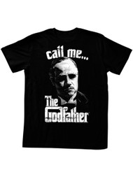 Godfather 1970's Mob Crime Drama Movie Pixeled Don Vito Call Me… Adult T-Shirt