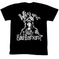 Conan Movie Whos Your Barbarian Adult T-Shirt Tee