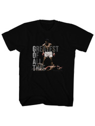 Muhammad Ali 60's Greatest Boxer of All Time Knockout Vintage Style Adult Tshirt