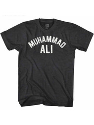 Muhammad Ali 60s Goat Greatest Boxer Black Heather Adult T-Shirt Tee