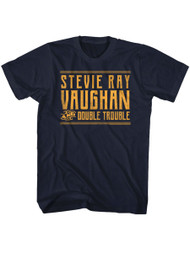 Stevie Ray Vaughan Musician Singer Guitarist Double Trouble Adult T-Shirt Tee