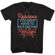 The Police British Rock Band Neon Sign Roxanne Don't Put on Red Light T-Shirt