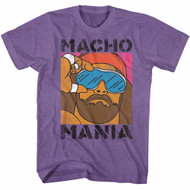 Macho Man 1980's Heavyweight Wrestler Mania Adult T-Shirt Tee