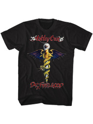 Motley Crue 1981 American Heavy Metal Rock Band Dr Feel Good Black Adult T-Shirt
