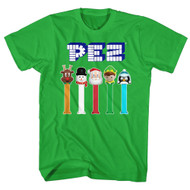 PEZ Brick Candy Dispenser Pop Reindeer Christmas Santa Elf Adult T-Shirt Tee