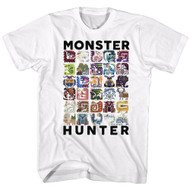 Monster Hunter American Classics Collage Let's Hunt Video Game Adult T-Shirt