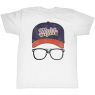 Major League Sports Comedy Baseball Movie Logocap White Adult T-Shirt Tee