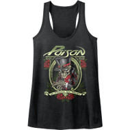 In Poison We Trust Rock Band Cigar Skeleton American Classics Womens Tank Top