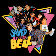 Saved By The Bell 1980's Sitcom Group Triangles Black Adult T-Shirt Tee