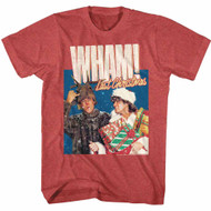 Wham English Music Duo Chrimuh Red Heather Adult T-Shirt Tee