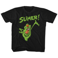 The Real Ghostbusters Animated TV Series Green Slimer Youth Big Boys T-Shirt Tee