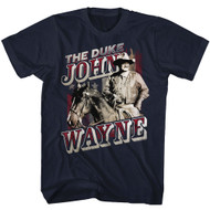 John Wayne American Legend Hollywood Actor The Duke on Horse Adult T-Shirt Tee