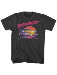 Baywatch 90's Drama Beach Patrol Lifeguard Neon Nightwatch Adult T-Shirt Tee