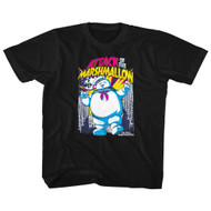 The Real Ghostbusters TV Series Attack of Marshmallow Big Boys T-Shirt Tee
