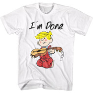 Dennis The Menace Funny Newspaper Comic Strip Character I'm Done Adult T-Shirt
