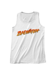 Baywatch 90's Drama Beach Patrol Lifeguard Baewatch Logo Adult Tank Top Tee