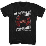 Silence Of The Lambs Horror-Thriller Film Friend For Dinner Adult T-Shirt Tee