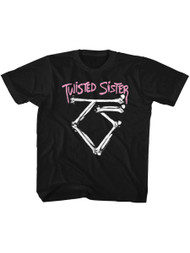 Twisted Sister Heavy Metal Band Bad to the Bone Logo Youth T-Shirt Tee