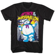 The Real Ghostbusters Animated TV Series Attack of Marshmallow Adult T-Shirt Tee