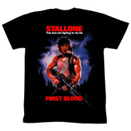 Rambo 1980s Action Thriller War Movie Fighting for His Life Adult T-Shirt Tee