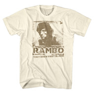 Rambo 1980's Action Thriller War Movie Blame Natural Adult T-Shirt Tee
