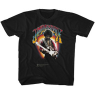 Jimi Hendrix 1960's Psychedelic Musical Icon Jammin on Guitar Toddler T-Shirt