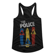 The Police British Rock Band Synchronicity Vintage Ladies Racerback Tank Top Tee