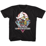 Real Ghostbusters Realgb Black Youth T-Shirt Tee
