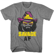 Macho Man 1980's Heavyweight Wrestler Savage Adult T-Shirt Tee
