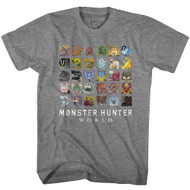 Monster Hunter Fantasy Action Role-Playing Video Game Icon Textiles T-Shirt Tee