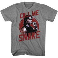 Escape From New York Call Me Snake Graphite Heather Adult T-Shirt Tee