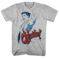 Ace Attorney  Defense Courtroom Trial Video Game Objection Adult T-Shirt Tee