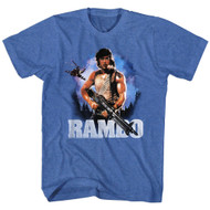 Rambo 80's Flag Action Thriller War Army First Blood Movie John Adult T-Shirt
