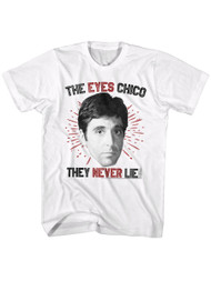 Scarface 1980's Gangster Crime Eyes Chico Al Pacino Tony Montana Adult T-shirt