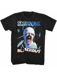 Scorpions German Rock Band Blackout Black Adult T-Shirt Tee