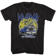 Def Leppard 1977 Heavy Hair Metal Band Rock & Roll US Invasion Truck T-Shirt Tee
