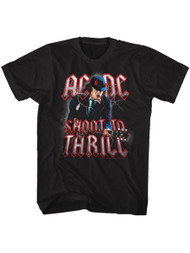 ACDC Heavy Metal Rock Band Shoot To Thrill Black Adult T-Shirt Tee