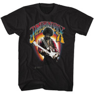 Jimi Hendrix 1960's Psychedelic Musical Icon Jammin on Guitar T-Shirt Tee