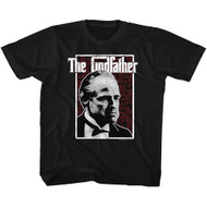 Godfather 1970s Mob Crime Drama Movie Seeing Red Stare Toddler T-Shirt Tee