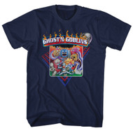 Ghosts N Goblins Video Arcade Game Zombies Monsters Fire Adult T-Shirt Tee