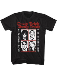 Cheap Trick Want You To Black Adult T-Shirt Tee