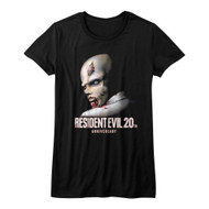 Resident Evil Horror Science Fiction Video Game 20th Anniversary Juniors T-Shirt